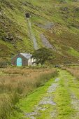 Small Hydroelectric Power Station With Disused Railway Incline Behind It, Croesor.