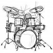 vector illustration of a drummer