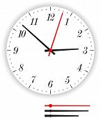 picture of analog clock  - Illustration of a modern clock face  - JPG