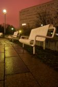 White Bench In The Night