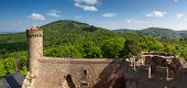 Panorama Of Castle Auerbach In Spring