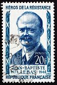 Postage Stamp France 1957 Jean-baptiste Lebas, Politician