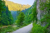 pic of pieniny  - Trekking trail in The Dunajec River Gorge - JPG