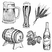 stock photo of drawing beer  - bitter beer - JPG