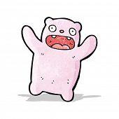 cartoon pink bear
