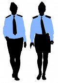 People of special police force on white background