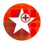 star red flat icon isolated