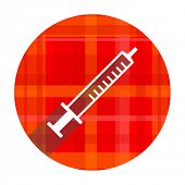 medicine red flat icon isolated
