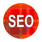 seo red flat icon isolated