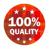 quality red flat icon isolated