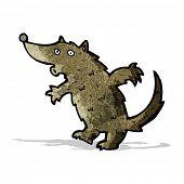 whistling wolf cartoon