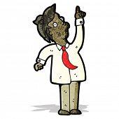 cartoon man pointing upwards