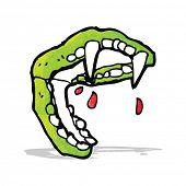 cartoon vampire fangs