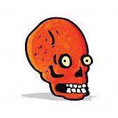 cartoon spooky staring skull