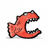 stock photo of piranha  - cartoon piranha - JPG