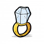 cartoon huge diamond ring
