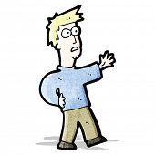 cartoon worried man