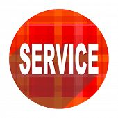 service red flat icon isolated