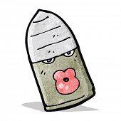 cartoon bullet with face