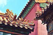 Roofs of the Forbidden City in Beijing
