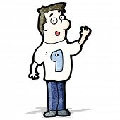 cartoon man in shirt number nine