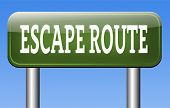 escape route to safety emergency exit avoid stress and break free running away no rat race