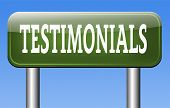 testimonials sign customer feedback testimonial or leave a comment