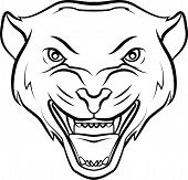 image of panther  - Panther Editable  - JPG