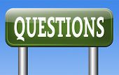 questions and solutions on answers helps or support desk information answer question with text and word concept