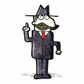 cartoon detective solving case