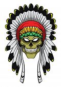 foto of apache  - Apache Head Editable  - JPG