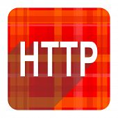 http red flat icon isolated