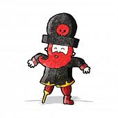 foto of peg-leg  - cartoon pirate captain - JPG