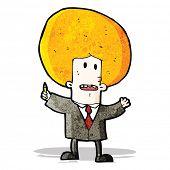 cartoon ginger man in suit