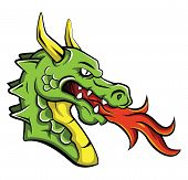 picture of dragon head  - Dragon Head Editable Vector Art and Illustration Design - JPG