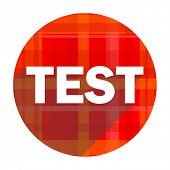 test red flat icon isolated