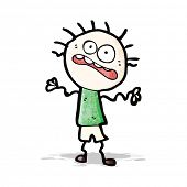 cartoon nervous doodle man