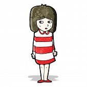 cartoon anxious girl