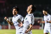 Sisaket Thailand-october 15: Carmelo Gonzalez Of Buriram Utd. In Action During Thai Premier League B
