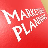 Marketing Planning With Red Background