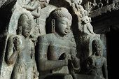 Buddha At Carpenter's Cave -ellora Temple Complex ,india, Unesco World Heritage Site