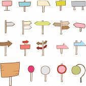 Collection of cute signboard elements