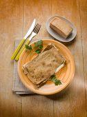 focaccia stuffed with taleggio cheese