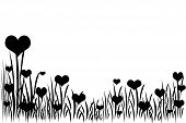 Grass with hearts