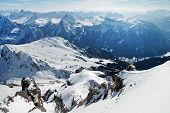 Dolomites Mountains At Winter, Ski Resort In Italy