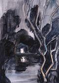 Night Landscape .river
