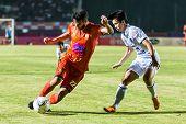 Sisaket Thailand-october 15: Victor Amaro Of Sisaket Fc. In Action During Thai Premier League Betwee