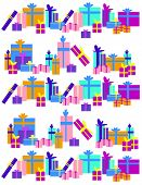 Different colors and size of gifts on white background.  EPS vector format.
