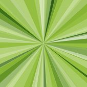 Green rays background. Vector illustration for your bright beams design
