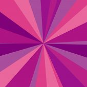 Purple, red and pink rays background. Vector illustration for your bright beams design